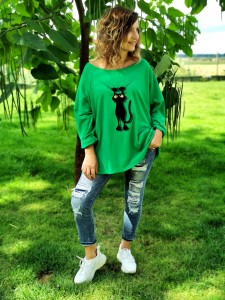 Bluzka CAT green