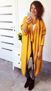 Sweter/kardigan yellow FOSIL