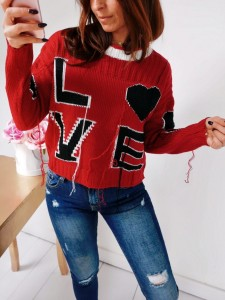 Sweter  red LOVE