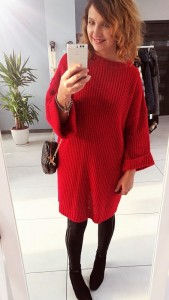 Sweter red GAJA